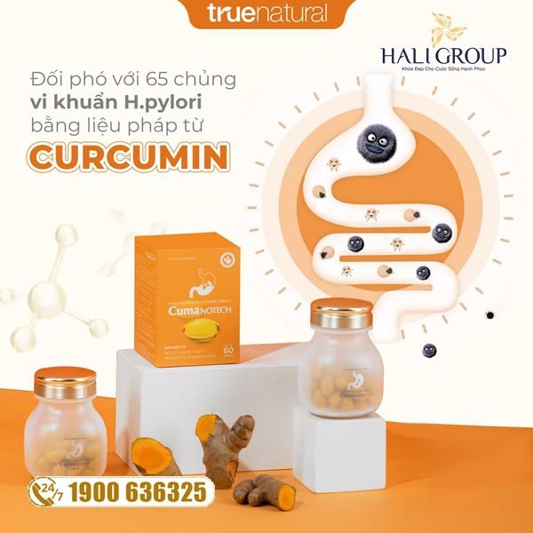 """Viên Nghệ Nano Curcumin Dạ Dày True Natural - sản phẩm """"vàng"""" cho người gặp vấn đề bao tử"""